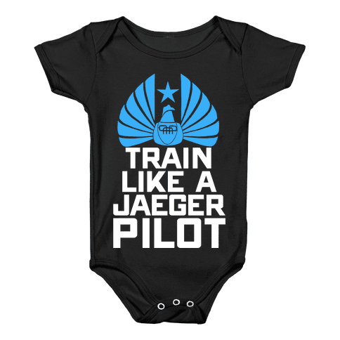 Train Like a Jaeger Pilot Baby Onesy