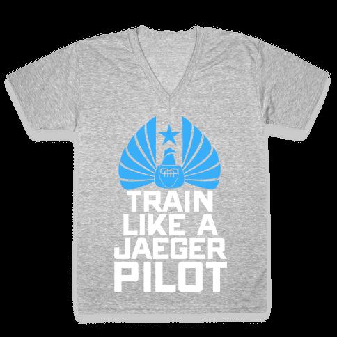 Train Like a Jaeger Pilot V-Neck Tee Shirt