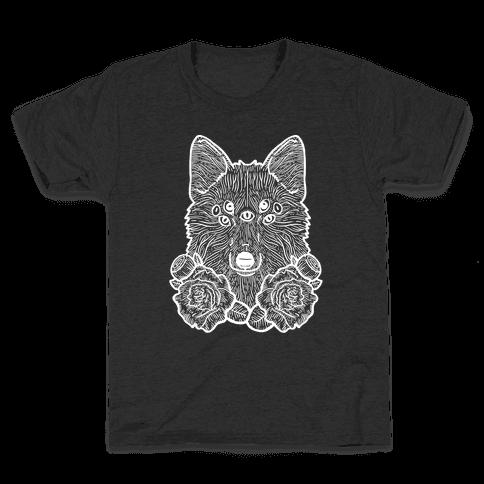 Seven Eyed Fox Kids T-Shirt