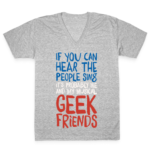Musical Geeks V-Neck Tee Shirt