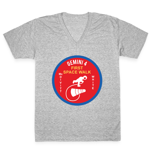 Gemini 4 First Space Walk V-Neck Tee Shirt