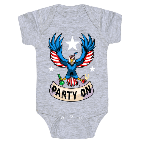 Party On USA! Baby Onesy