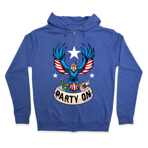 Party On USA! Zip Hoodie