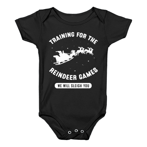 Training for the Reindeer Games Baby Onesy