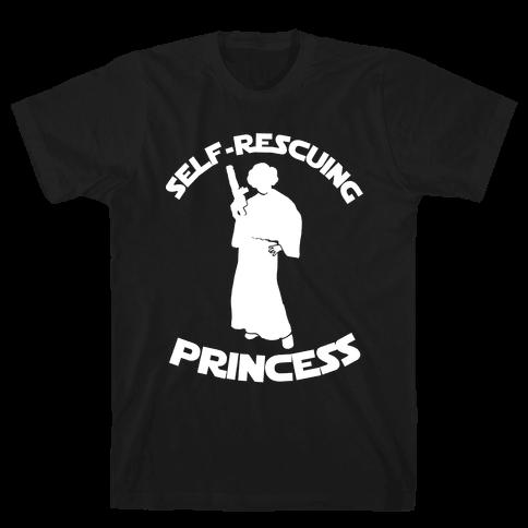 Self-Rescuing Princess Mens T-Shirt