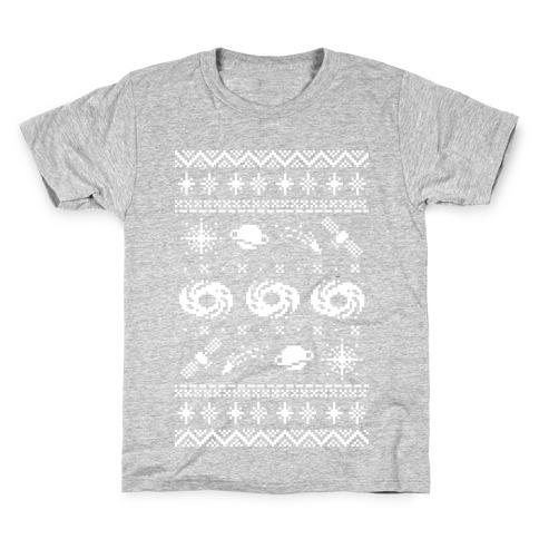 Interstellar Christmas Sweater Pattern Kids T-Shirt
