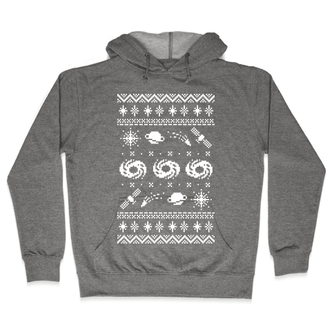 Interstellar Christmas Sweater Pattern Hooded Sweatshirt