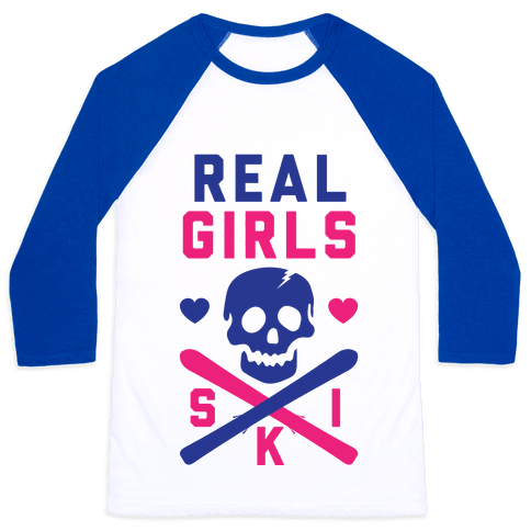 Real Girls Ski Baseball Tee