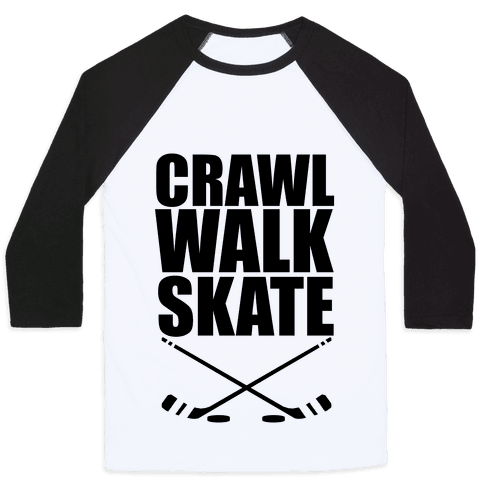 Crawl Walk Skate Baseball Tee