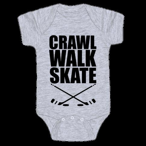 Crawl Walk Skate Baby Onesy