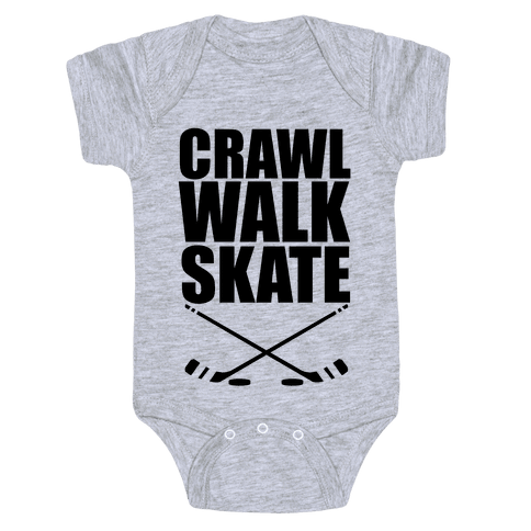 Crawl Walk Skate Baby Onesy