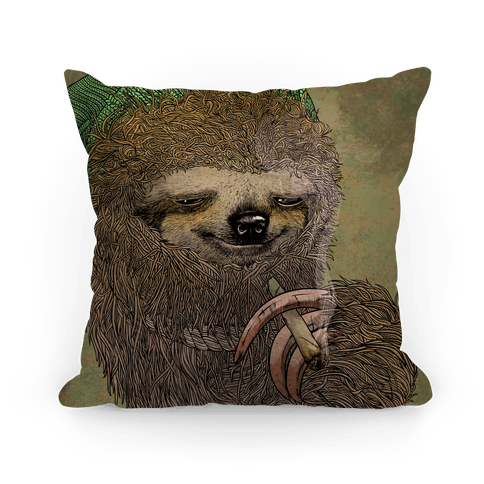 Stoner Sloth Pillow