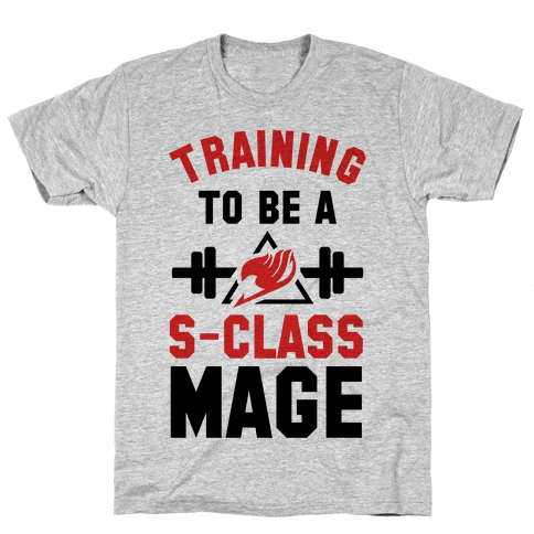 Training to Be a S-Class Mage Mens T-Shirt