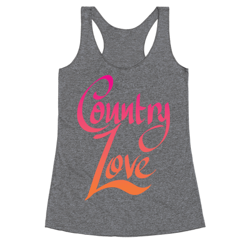 Country Love Racerback Tank Top