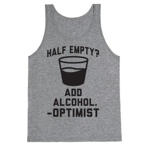 Optimistic Alcoholic Tank Top