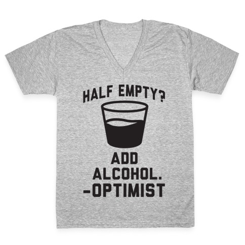Optimistic Alcoholic V-Neck Tee Shirt