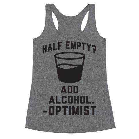 Optimistic Alcoholic Racerback Tank Top