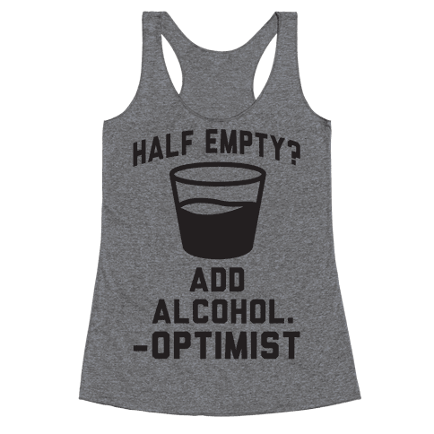 Optimistic Alcoholic Racerback Tank Top