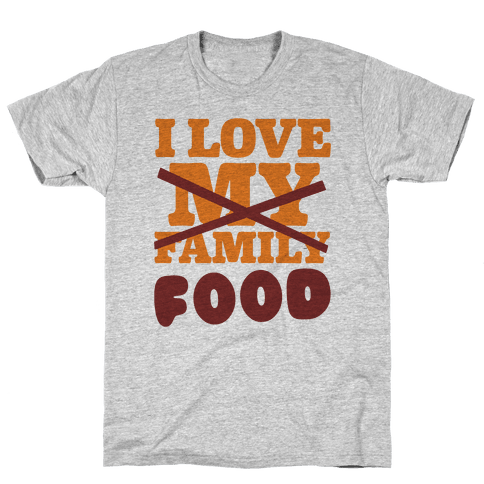 I Love Food Mens T-Shirt