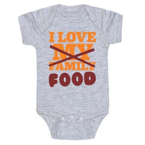 I Love Food Baby Onesy