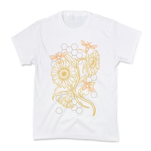 Honeybees & Sunflowers Kids T-Shirt