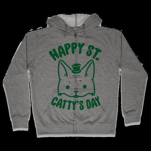 Happy St. Catty's Day Zip Hoodie