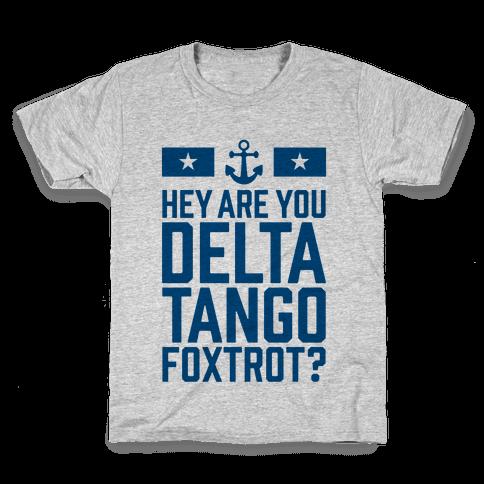 Delta Tango Foxtrot (Navy) Kids T-Shirt
