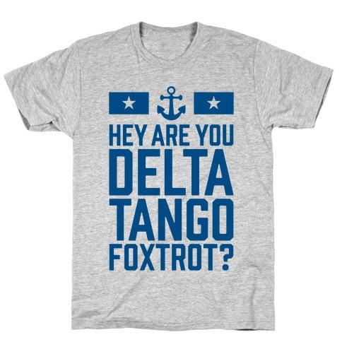 Delta Tango Foxtrot (Navy) Mens T-Shirt