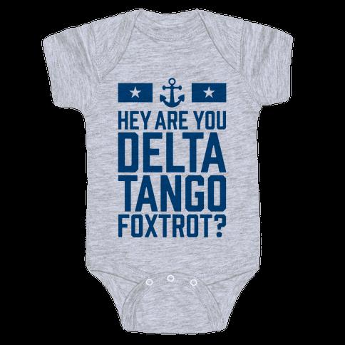 Delta Tango Foxtrot (Navy) Baby Onesy