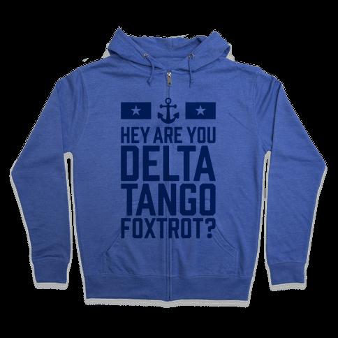 Delta Tango Foxtrot (Navy) Zip Hoodie