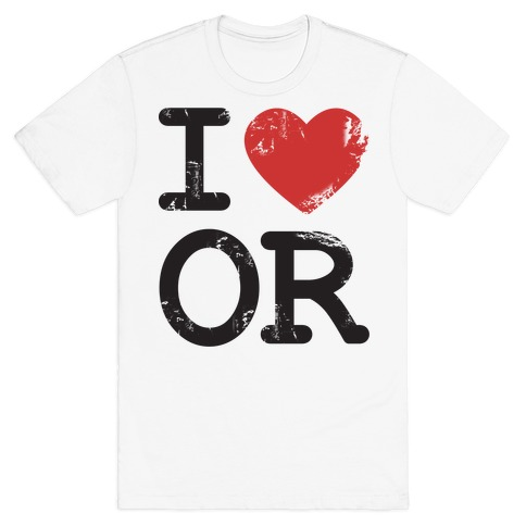 I Love Oregon Mens T-Shirt