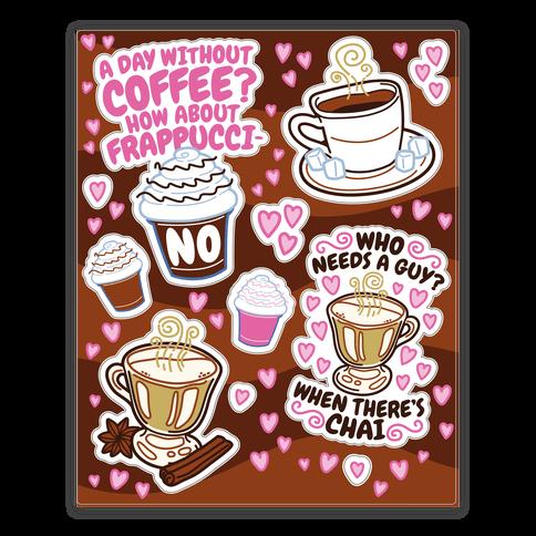 Coffee Lovers  Sticker/Decal Sheet