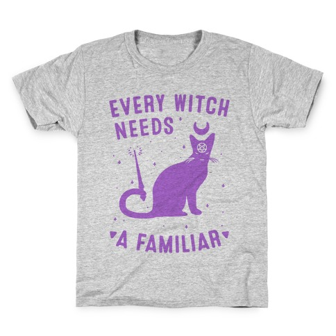 Every Witch Needs a Familiar Kids T-Shirt
