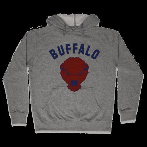 Bison Buffalo Hooded Sweatshirt