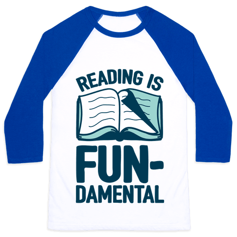Reading Is Fundamental Baseball Tee