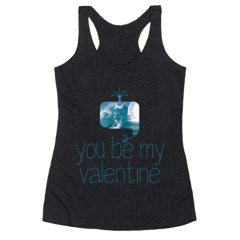 Whale You Be My Valentine? Racerback Tank Top
