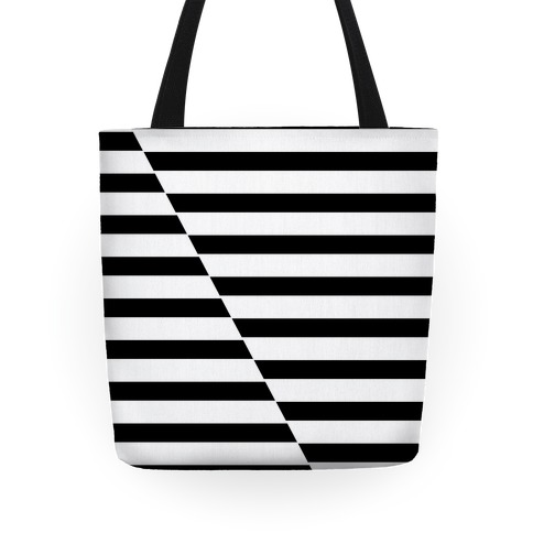 Cut Stripes Pattern Tote Tote