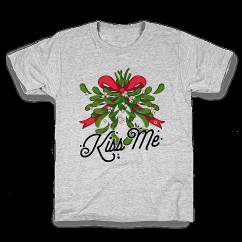 Mistletoe Kiss Me Kids T-Shirt