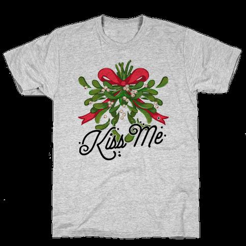 Mistletoe Kiss Me Mens T-Shirt