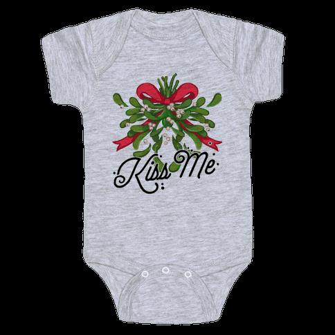 Mistletoe Kiss Me Baby Onesy