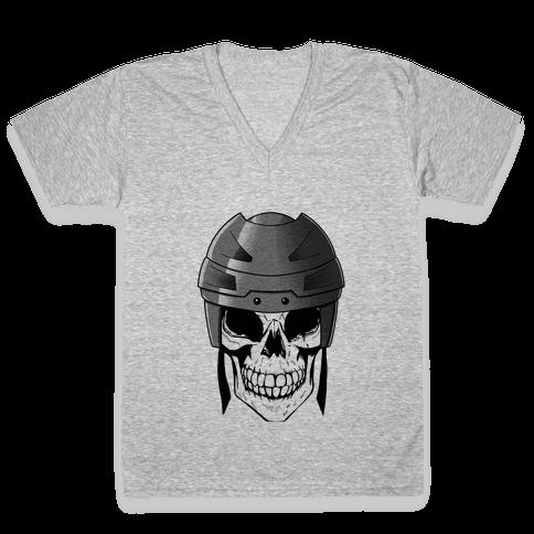 Hockey or Die V-Neck Tee Shirt