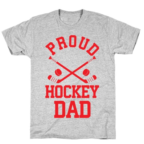 Proud Hockey Dad Mens T-Shirt