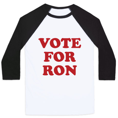 Vote for Ron Baseball Tee