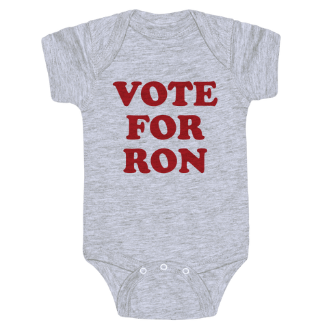 Vote for Ron Baby Onesy