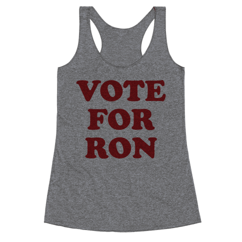 Vote for Ron Racerback Tank Top