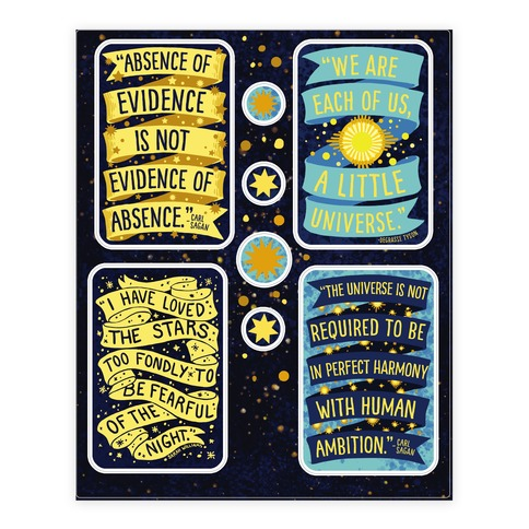 Inspiring Science Quote Sticker and Decal Sheet