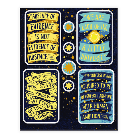 Inspiring Science Quote  Sticker/Decal Sheet