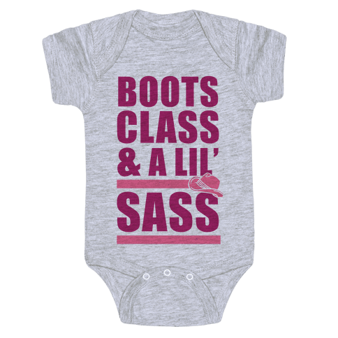 Boots, Class, & A Lil' Sass Baby Onesy