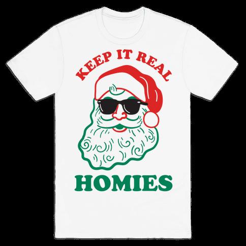 Keep It Real - Santa Mens T-Shirt