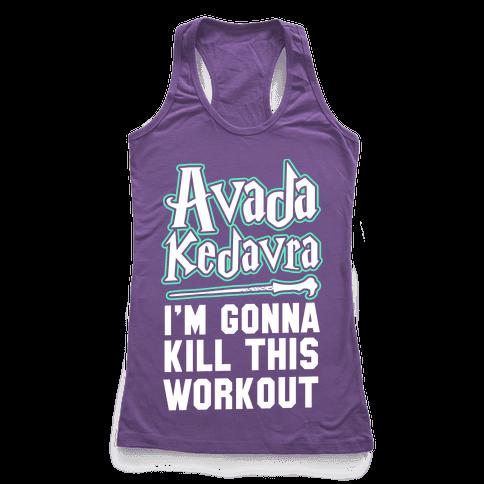 Avada Kedavra Fitness (Glow) Racerback Tank Top